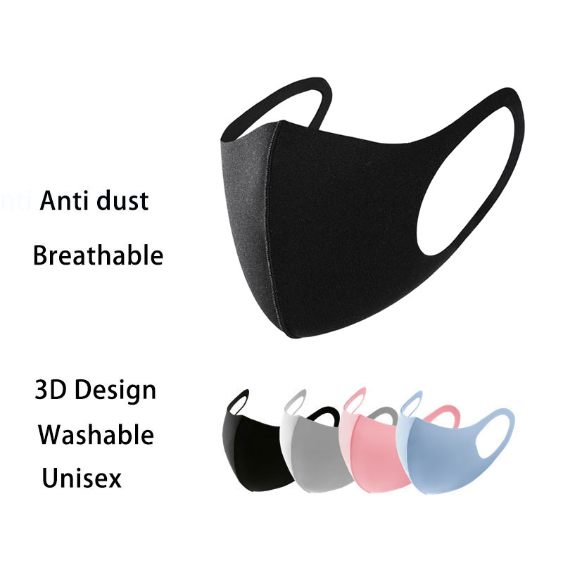 3Pc Korean Mouth Face Mask Washable Dustproof Reusable Unisex Anti Dust Anti Pollen Face Mask Respirator Mascaras