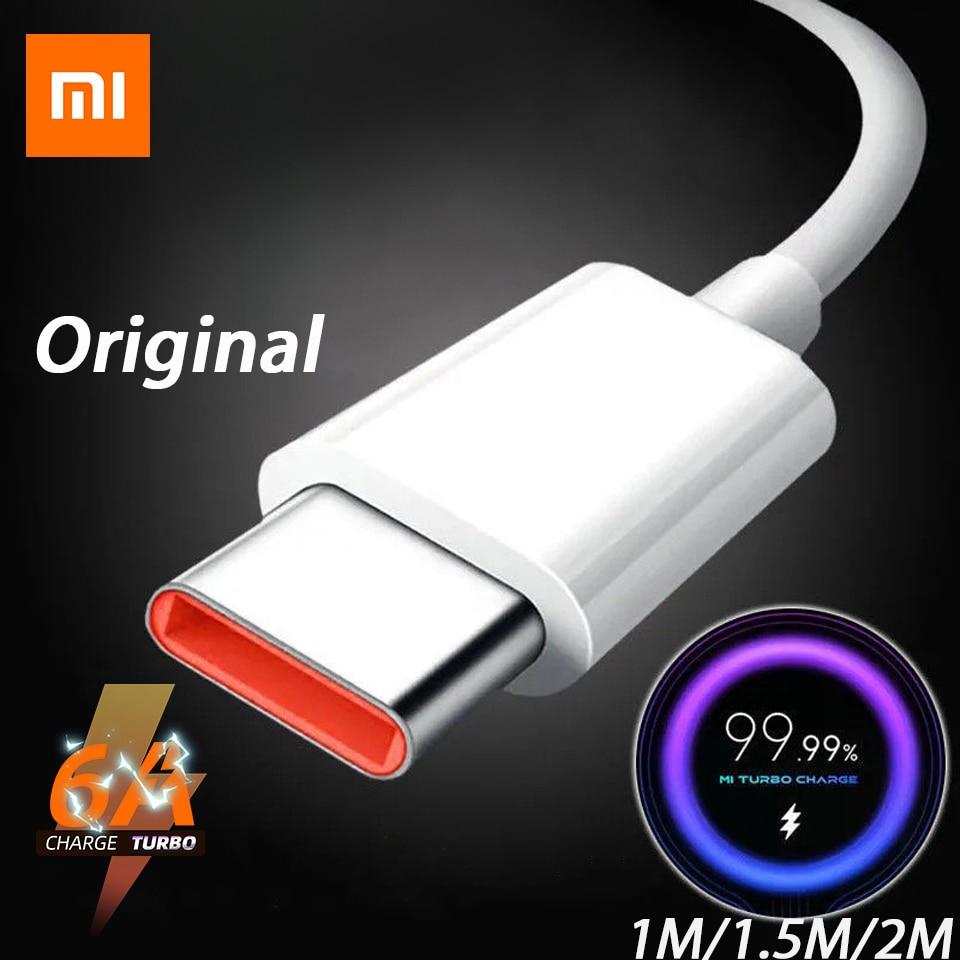 Оригинальное зарядное устройство с кабелем типа C для Xiaomi, быстрая зарядка для Poco M3 X3 NFC F2 Mi 11 9 Black Shark 3 Redmi Note 10 K40 K30 TipoC