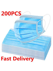 3-Layer-Mouth-Masks FILTER Anti-Dust-Protective Disposable Non-Woven Fast-Ship Breathable