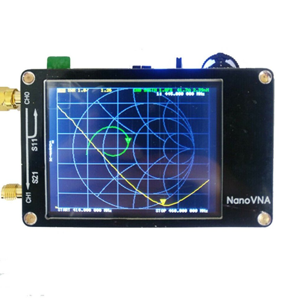 For Nanovna Vector Network Analyzer Press Screen  Mf Hf Vhf PC 50Khz-900Mhz Antenna Analyzer Chargeable