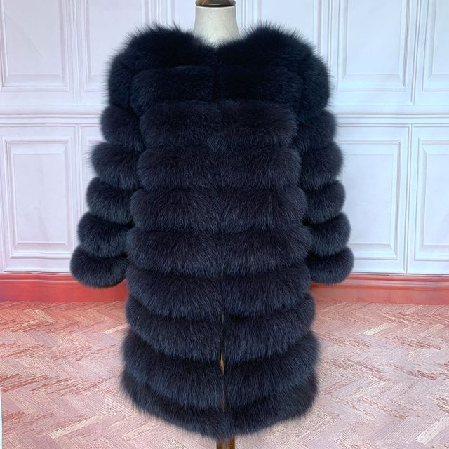 2020 Real Fox Fur Coat Women Natural Real Fur Jackets Vest  Winter Outerwear Women Clothes 4
