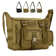 Mężczyźni 1000D nylonowa torba listonoszka na ramię wojskowa torba studencka Trekking teczka na laptopa
