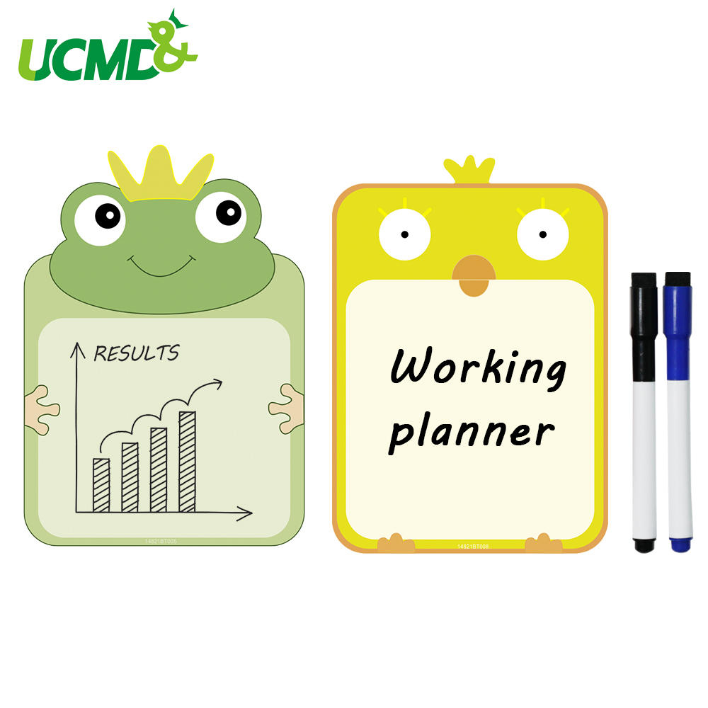 A5 Size Creative Magnetic Writing Whiteboard Sticker For Fridge Refrigerator Erasable Reminder Record Memo Message Board 2pcs