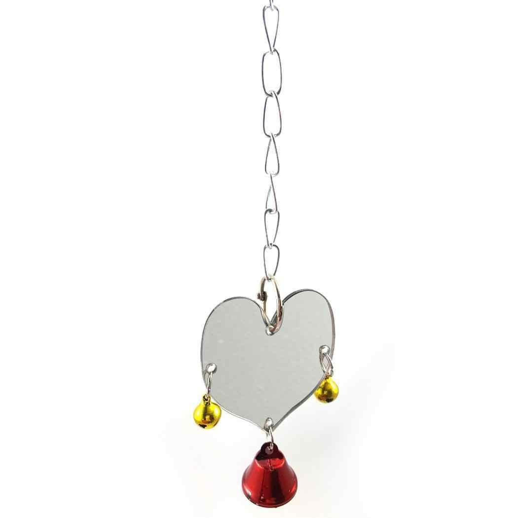 צבעוני ציפור צעצוע תוכי לב צורת מראה 18g כתמונה חיות מחמד לבית תוכי קוקטייל Pet Mirror צעצוע