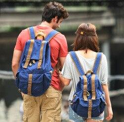 Virginland Canvas Bag Backpack MEN'S AND WOMEN'S Handbags Couples Combo Back School Bag