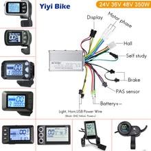 Bicicleta elétrica brushless display controlador 24v/36v/48v 350w ebike controlador s830 display para kits de conversão de bicicleta elétrica