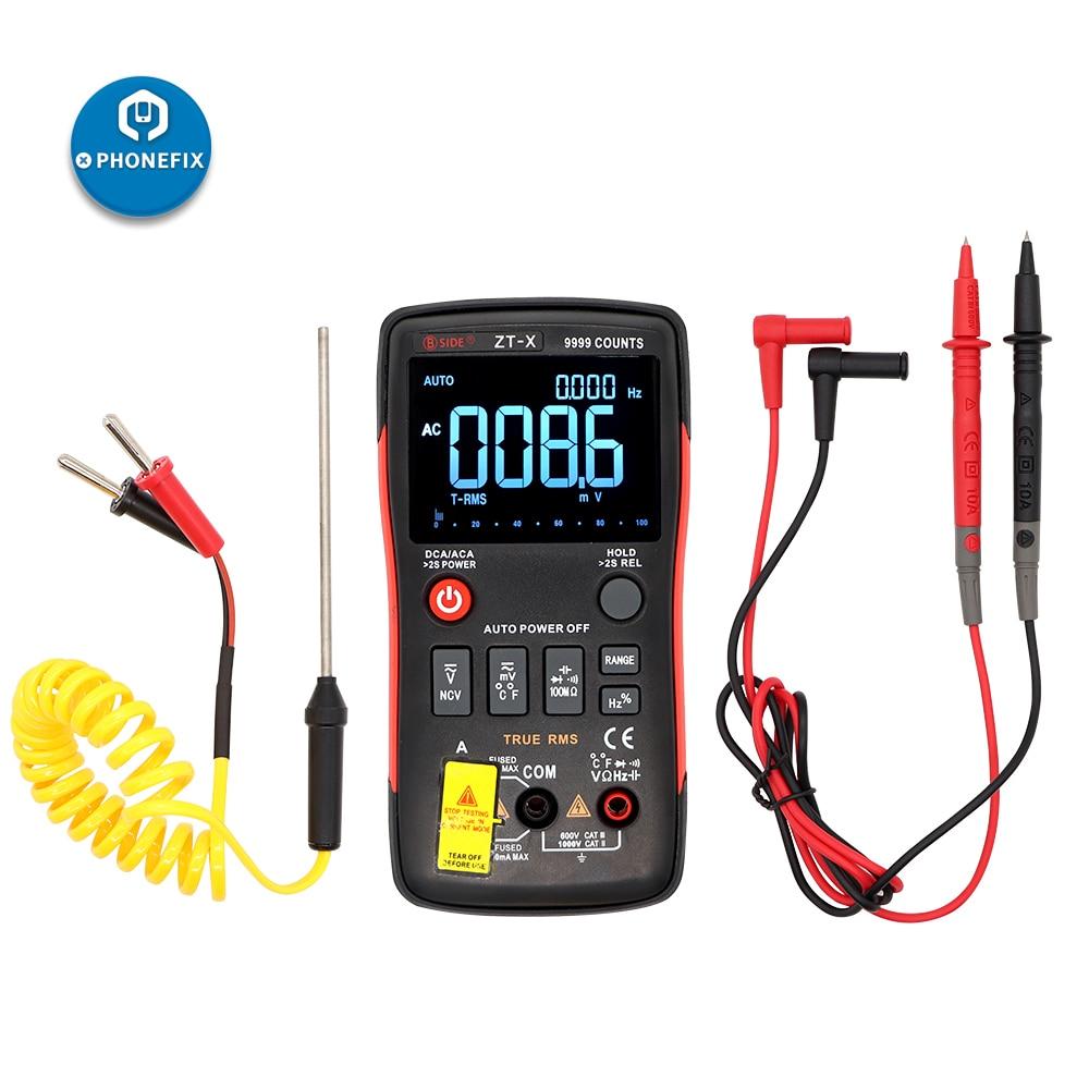 ZT-X Multimeter LCD Digital Multimeter For DMM DC/AC Voltmeter Ammeter Ohm HZ Temperature Tester ZT-X True RMS Multimeter