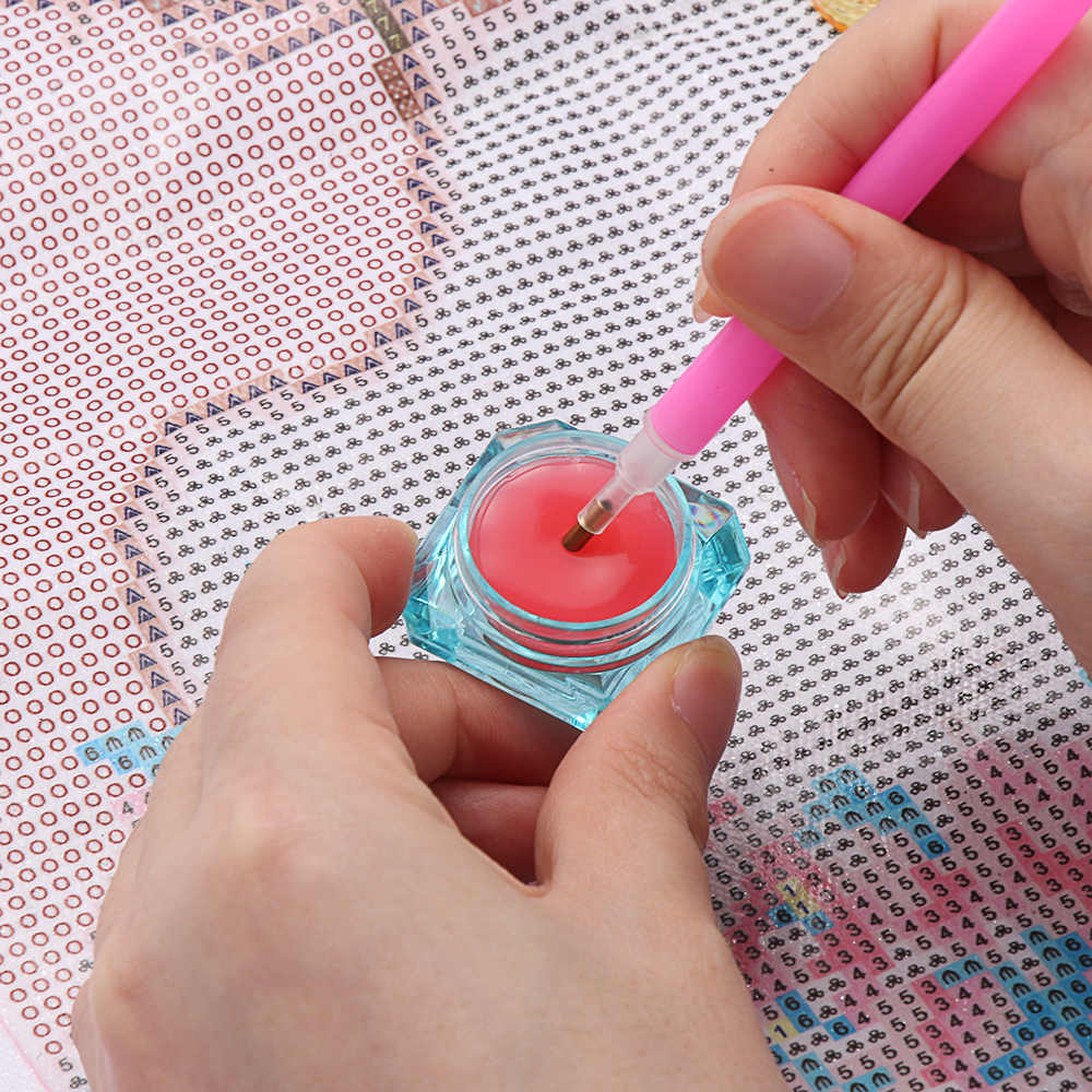 Herramienta de arcilla de pegamento para manualidades, 1 caja de accesorios para pintura de diamantes, 3,2x3,2x2cm