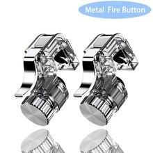 2 шт металлический смартфон игровой триггер для мобильных телефонов джойстик для PUBG мобильный геймпад Кнопка огня Aim ключ L1R1 шутер Pubg контроллер