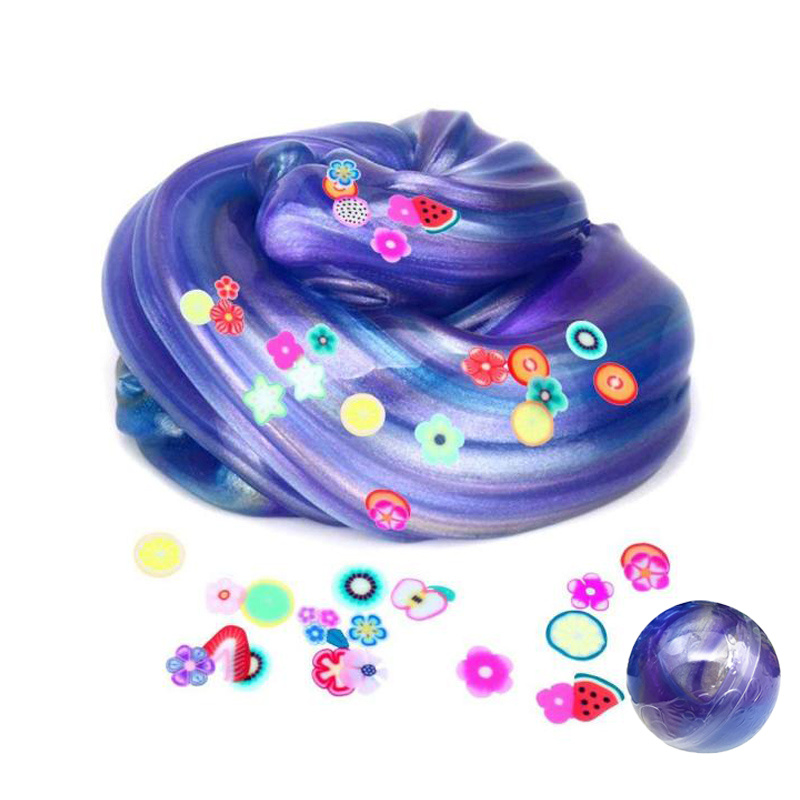 4cm Slime Ball Crystal Fluffy Toys DIY Slimes Cloud Glue Soft Clay Anti-stress Light Plasticine Antistress Toys Kids Slime Egg