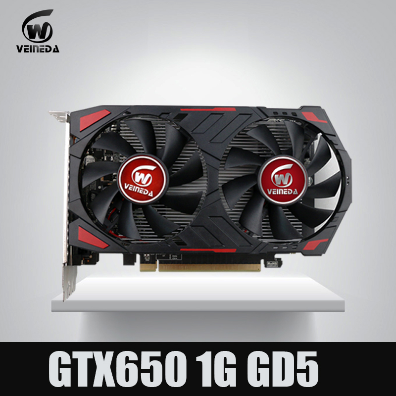 Veineda video graphics card Original GTX650 <font><b>GPU</b></font> <font><b>1GB</b></font> GDDR5 128BIT VGA Card for nVIDIA PC gaming Stronger than GT630 ,GT730 image