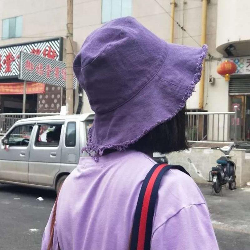 Black White Solid Bucket Hat Unisex Bob Caps Hip Hop Men Women Summer Panama Cap Beach Sun Fishing Hat Korea