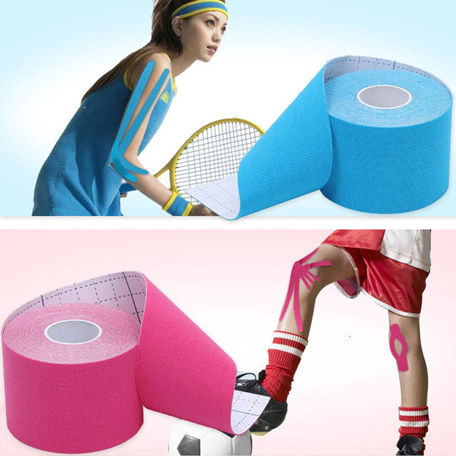 AOLIKES 2.5cm*5m Elastic Sport Injury Muscle Tapes Bandage Support Kinesiology Tape Knee Pads Support Protector Kinesiologe