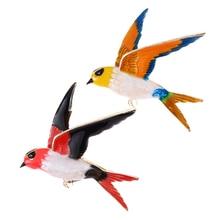 Vivid Enamel Swallow Shaped Brooch Pins Coat Dress Decoration Badge Sweater Pendant Bird Animal Brooches For Women Men