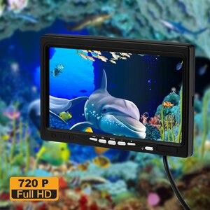 Image 2 - Cámara de pesca con Cable de 7 pulgadas, 1280x720, 15M, buscador de peces, vídeo, cámara subacuática, 12 LED blancos + 12 unidades Lámpara de infrarrojos pesca en hielo