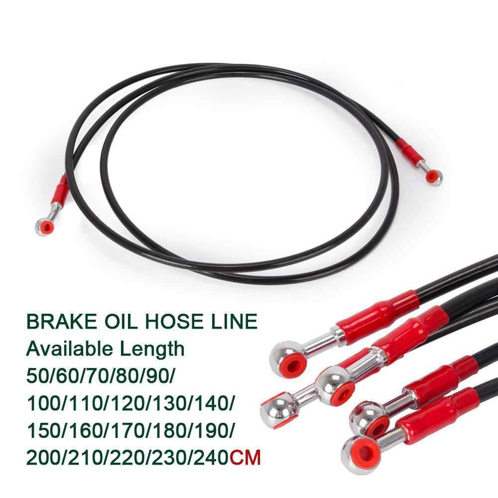 HiMISS 50 60 70 80cm zabrudzenia motocyklowe rower pleciona stal wzmocniony hamulec hydrauliczny linii wąż oleju sprzęgła rury