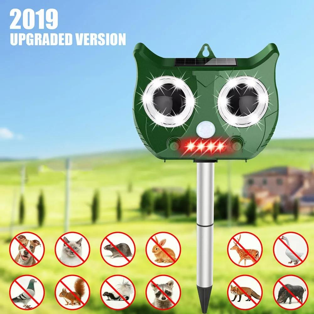 Portable Solar Battery Powered Ultrasonic Outdoor Pest And Animal Repeller Rat Repeller Get All Animal Invaders Friendly