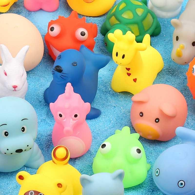 Brinquedo de banho do bebê brinquedos do banheiro para crianças dos desenhos animados de borracha pato praia engraçado kawaii animais piscina de água bonito pato amarelo criança banho brinquedos