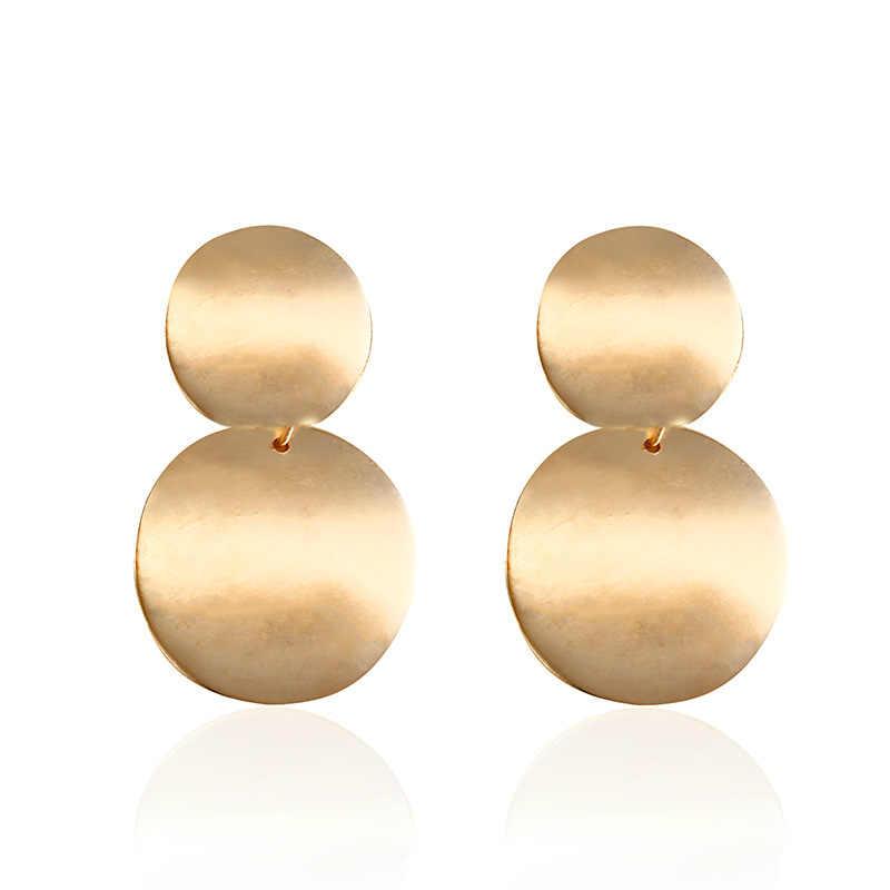 Новые модные серебряные золотые длинные серьги Boho Brincos в Корейском стиле, Висячие серьги для женщин, вечерние ювелирные изделия