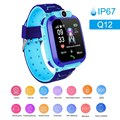 Q12 crianças relógio inteligente ip67 à prova dip67 água touch-screen sos telefone dispositivo de chamada localização rastreador anti-lost relógios