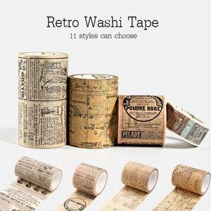 Vintage Decoration Scrapbooking Masking Washitape Decorative Wash Bullet Journal Whasi Decorada Stickers Retro Washi Tape Set(China)