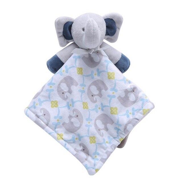 Cute Infant Toddler Baby Comforter Washable Security Blanket Cartoon Dog Deer Elephant Soft Swaddling 1