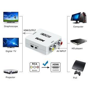 Image 1 - Mini Hợp CVBS To HDMI AV2HDMI Bộ Chuyển Đổi Âm Thanh RCA/AV Sang HDMI Nam Đến Nữ Bộ Chuyển Hộp Công Tắc 720P 1080P