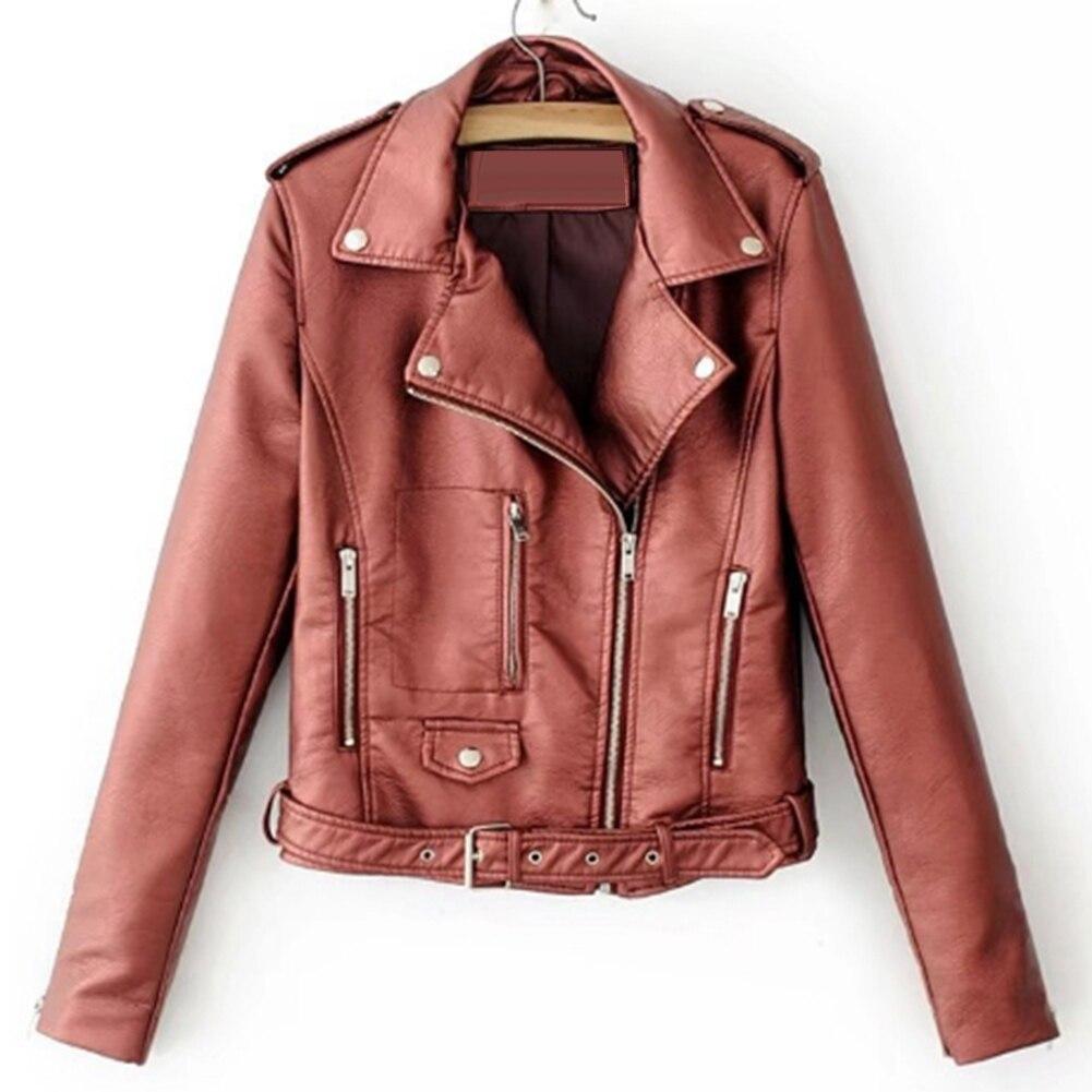 Ha6028173a1314b73992981e6292634e26 Fashion Punk Women Coat Jacket Leather Long Sleeve Lapel Zipper Button Motorcycle Jacket Short Coat For Women's Clothings