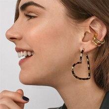 Boho Hollow Heart Shape Earrings for Women Trendy Metal Stud Earrings Personality Statement Jewelry Ear Accessories abstract heart stud earrings stainless steel minimalist hollow heart stud earrings for women girls jewelry accessories gifts