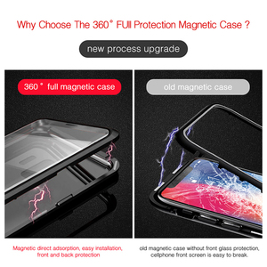 Image 5 - Double sided Magnetic 360 Full Protect Case for Xiaomi Pocophone F1 Tempered Glass Back +Front Cover Mi POCO F1 Transparent Case