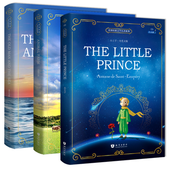3books/set The Little Prince/The Old Man and Sea/Animal Farm  English Original Novel Reading Classic World Famous Books for kids - discount item  25% OFF Learning & Education