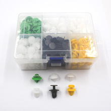 Universal Mixed Car Door Panel Plastic Fastener Clips With Box Set For All Auto Rivet