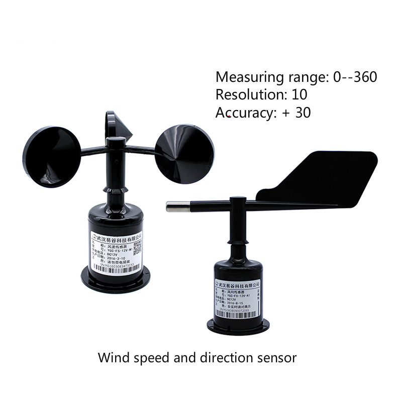 Three Cups Wind Direction And Wind Speed Sensor/anemorumbometer (RS485/232,4-20mA/0-5V) Wind Speed Transducer+wind Transducer