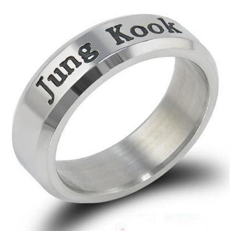 Image 4 - Kpop Ring Stainless Steel JHOPE Finger Rings Jewelry Rings Accessories for Men Women Female btss Bangtans Boys Jewelry-in Outdoor Tools from Sports & Entertainment