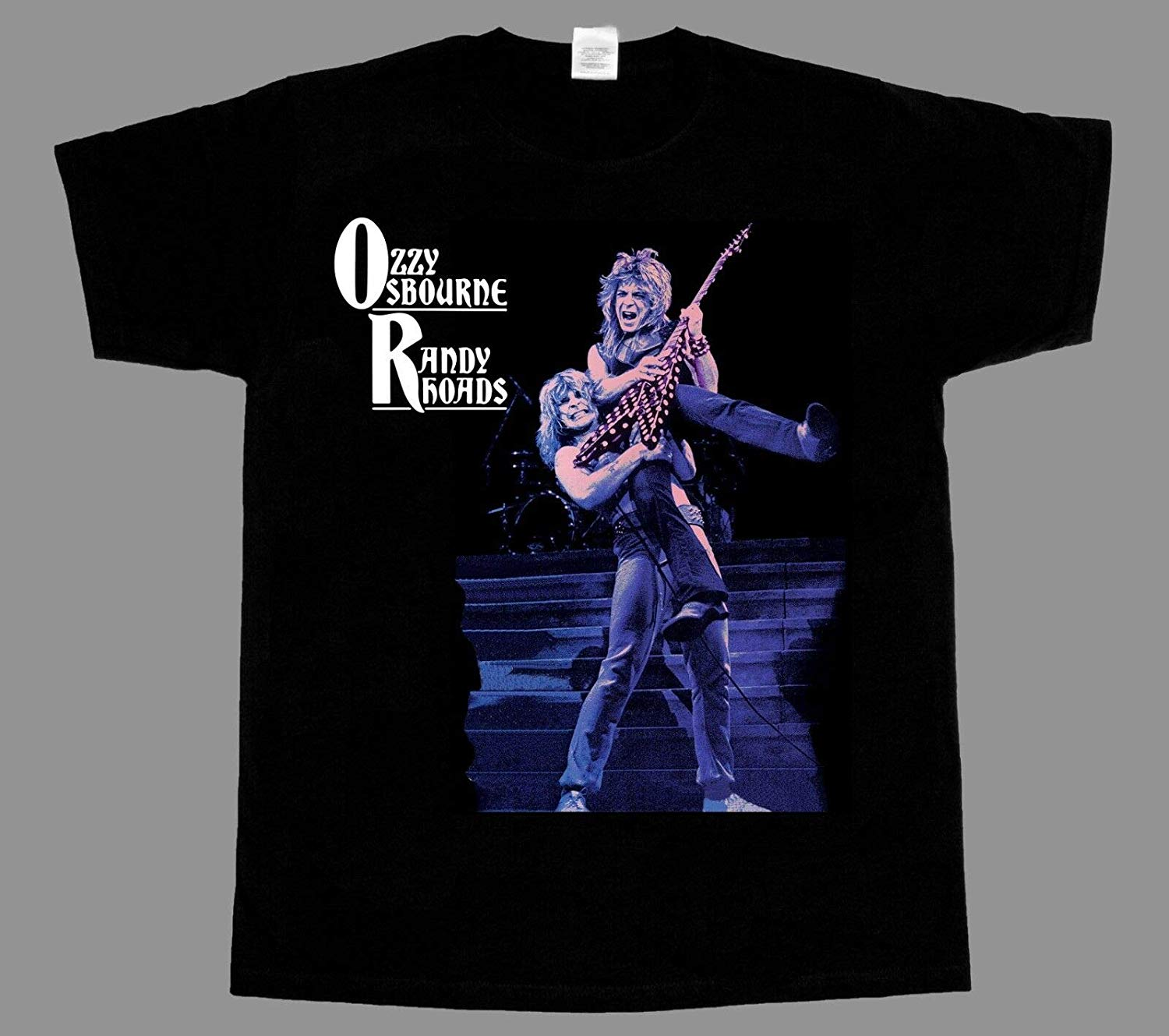 OZZY OSBOURNE <font><b>RANDY</b></font> <font><b>RHOADS</b></font> BLACK t shirt Gift T-Shirt for Men Woman 2019 Summer T-Shirts For Men image