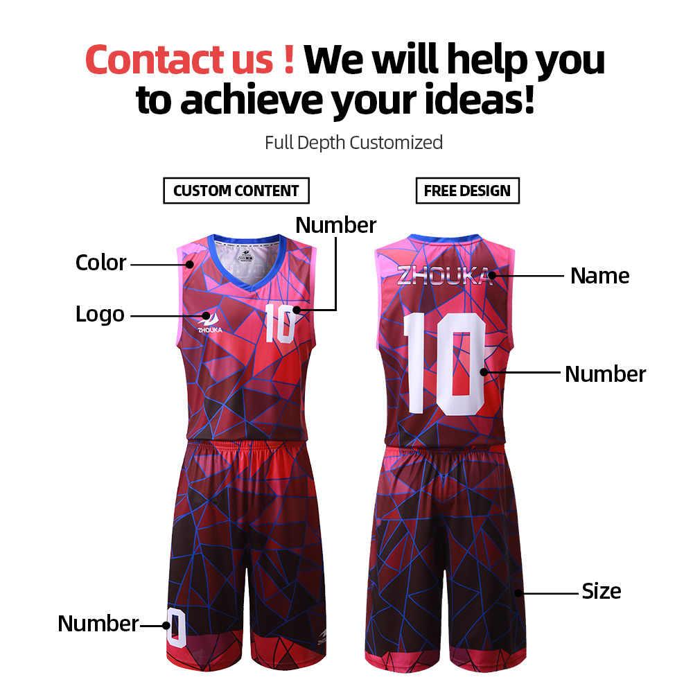 Professionelle Design Basketball Jersey Männer Gesetzt Atmungsaktiv Schnell Trocknend Basketball Shirts Leere Sport Anzüge Männer Basketball Shorts