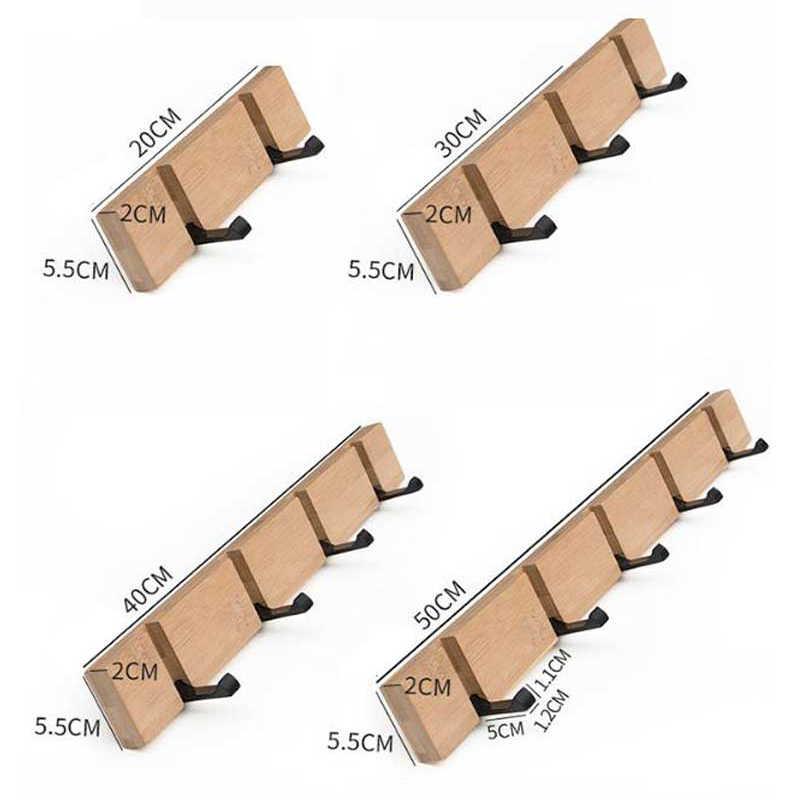 الخشب حمالة تعليق جدارية خطاطيف معاطف خطاف المفاتيح حامل صندوق تخزين ملابس المنظم المعادن المخفية جدار هوك لتعليق الملابس ديكور المنزل