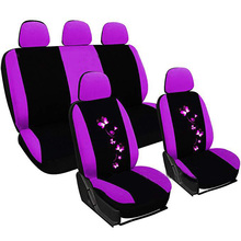 Car-Seat-Cover-Sets Interior-Accessories Pink Butterfly Purple for Women Full-Set Small