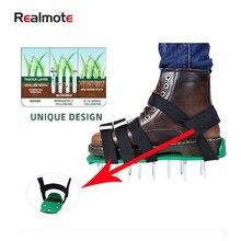 Обувь для ногтей Realmote Grassland, модернизированные садовые инструменты, искусство, аэратор для газона, обувь для газона или строительной промыш...