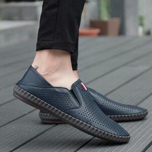Image 5 - Valstone رائجة البيع الرجال الصيف Mocassins 2020 أحذية جلدية بدون كعب الانزلاق على حذاء كاجوال لينة مريحة محرك الشقق الأبيض تنفس