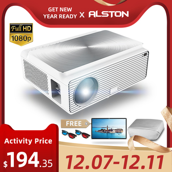 ALSTON Q9 Full HD 1080p projector 4k 6500 Lumens cinema Proyector Beamer HDMI USB AV VGA H96 MAX with gift 1