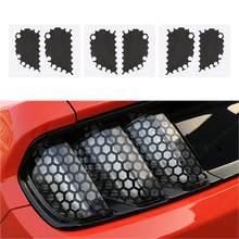 AOZBZ 6 sztuk/zestaw samochodów Taillight naklejki samochodowe naklejki o strukturze plastra miodu dla Ford Mustang akcesoria samochodowe ogon dekoracja świetlna naklejki