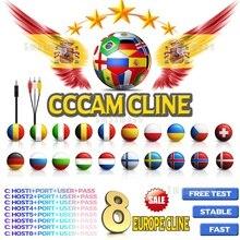 2020 اسبانيا Cccam خط ل 1/2 سنة أوروبا خادم HD Estable Codigos البرتغال بولندا إيطاليا ألمانيا Cccam لاستقبال الأقمار الصناعية