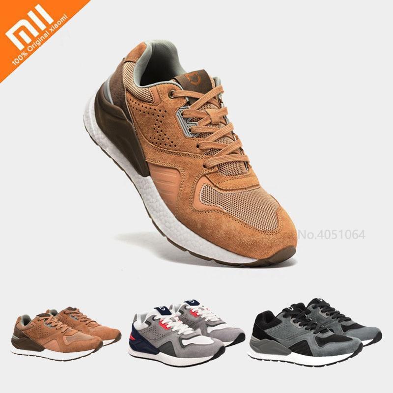 Xiaomi Mijia chaussures de Sport rétro hommes en cours d'exécution Sport en cuir véritable respirant Absorption des chocs élasticité chaussures de Sport en plein air