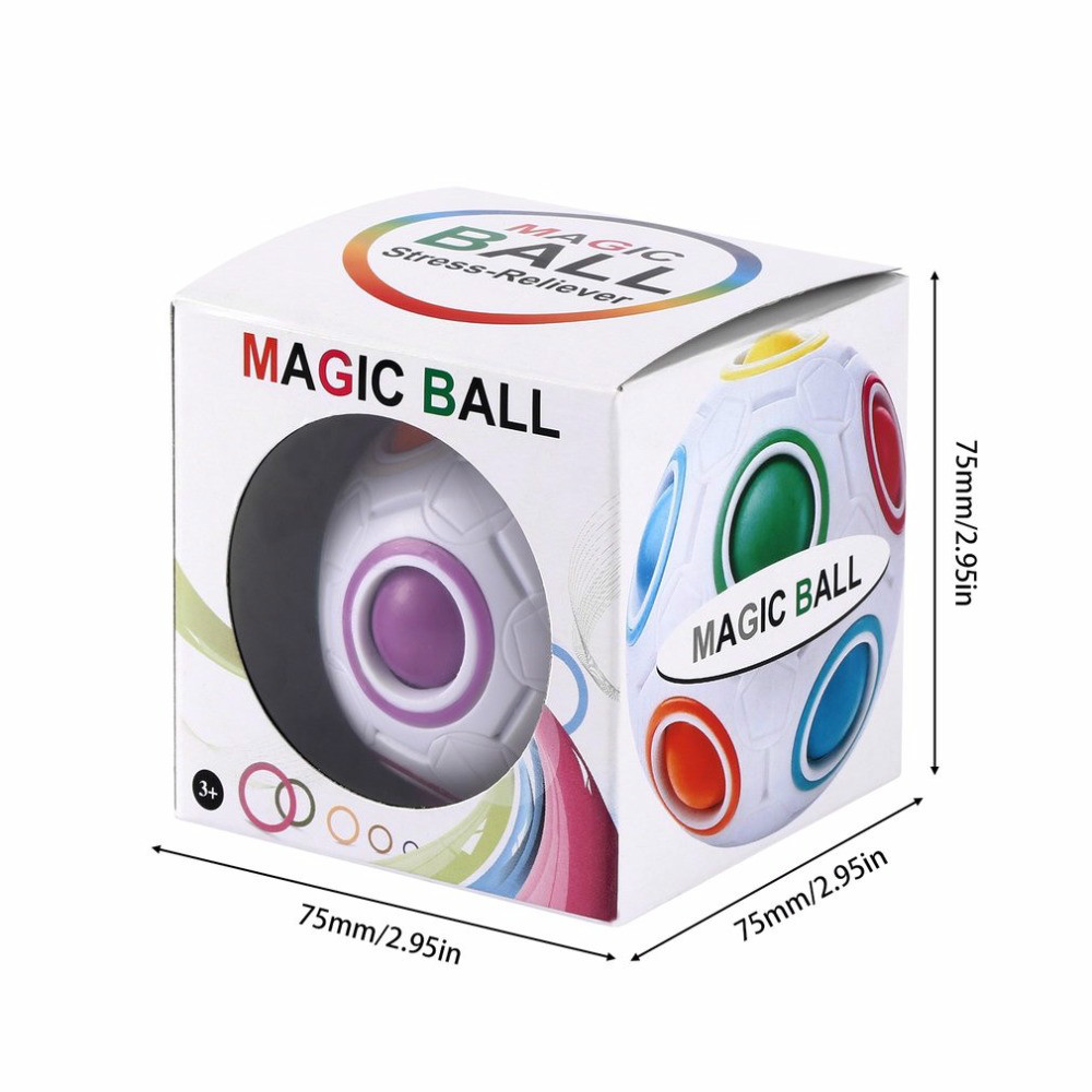 Rainbow mini Magic Ball Creative cube speed Puzzle ball children educational funny finger toys for kids New Sale Fidget toys in Toy Balls from Toys Hobbies