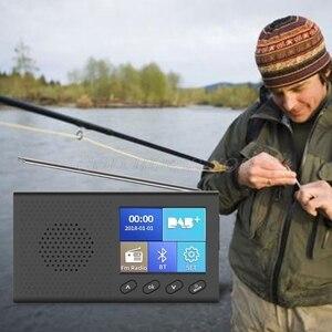 Image 5 - محمول DAB استقبال راديو FM بلوتوث 4.2 مشغل موسيقى 3.5 مللي متر ستيريو الناتج قطرة الشحن