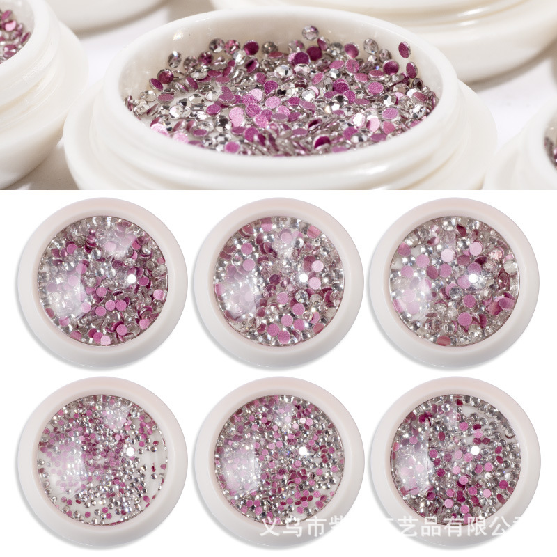 Refers To Princess Nail Sticker Nail Ornament Sequin Manicure Diamond Manicure Supplies Man-made Diamond Cat's Eye Bottled