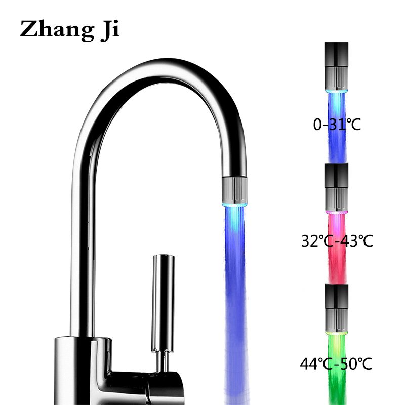Zhangji LED Kitchen Bathroom Water Saving Faucet Aerator High Quality Colorful Light Blinking Changing Glow Aerators