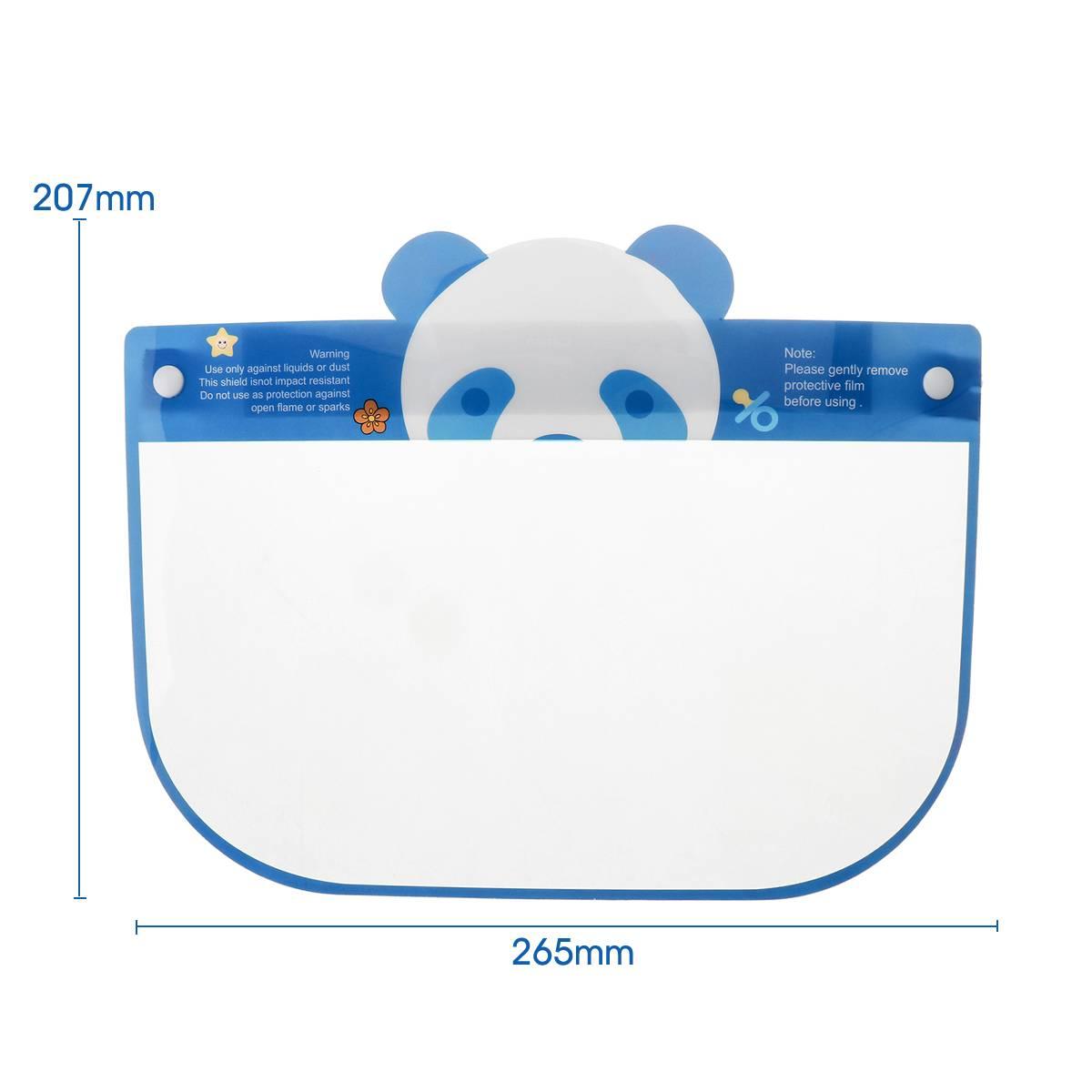 5PCS Kids Full Face Shield Mask Protective Visor Face Mask Plastic Anti Splash Anti saliva Dust-proof Full Face Cover 5