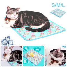 Pet Summer Cooling Mat Blanket Ice Cat Dog Bed Mats Sofa Portable Breatable Tour Camping Sleeping Floor Pad Pet Accessories summer dog cooling mats cat blanket ice pet dog bed mats for dogs cats sofa portable tour camping yoga sleeping pet accessories